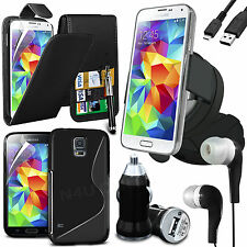 20.3cm 1 Bundle Kit Accessory Case Car Holder Charger For Samsung Galaxy S5