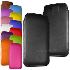 PREMIUM PU LEATHER PULL FLIP TAB CASE COVER POUCH FOR MOTOROLA MOTO X