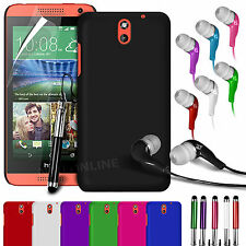HARD BACK SKIN CASE COVER, LCD FILM, STYLUS PEN & EARPHONE FOR HTC DESIRE 610