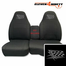 91-15 Ford Ranger Charcoal 60-40 Seat Covers W Flag Logo Choose From 9 colors