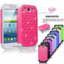 Luxury Armor Best Impact Bling Crystal Case For SAMSUNG GALAXY S3 S III i9300
