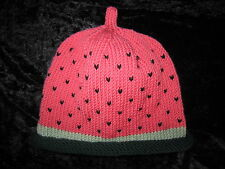 Hand Knitted Cashmere & Wool Watermelon Fruit Baby Hats 0-24 months
