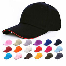 New Baseball Army Cap Blank Plain Womens Sports Visor Sun Golf ball Hat Men