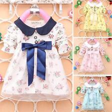 Baby Long Sleeve Girls Clothes Dress Toddler Infant Girl Party Wedding Dress