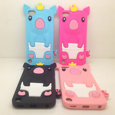 1pc Rubber Soft 3D Cute Pig Gel Silicone Cover Case For Ipod Touch 6 6G 6th Gen
