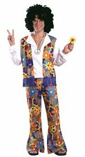 Costumes! 60s Monterey Hippie Heat Shirt Vest & Pants Set Ad Standard