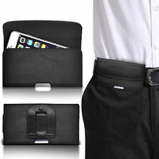 PU Leather Horizontal Belt Clip Pouch Case For Emporia Glam
