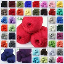 Sale New 3Skeinsx50gr LACE Soft Crochet Acrylic Wool Cashmere hand knitting Yarn