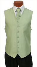 Small Mens After Six Aries Mint Green Tuxedo Fullback Vest & Tie Wedding Prom