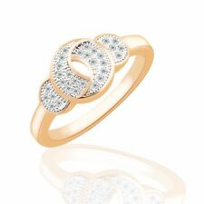 Fashionable lady rings 18K gold filled Swarovski crystal eternal rings Sz6-Sz9