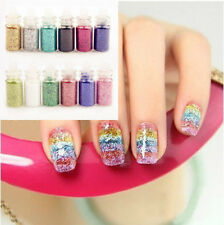 1Bottle Glitter Dust Powder Acrylic UV Gel 3D Nail Art Manicure Decoration DIY