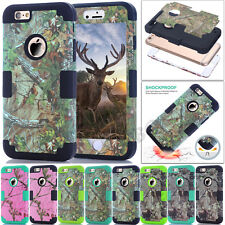 Armor Camo Hybrid Shockproof Heavy Duty Soft Tough Case Cover For  iPhone Series