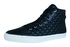 Geox D New Club A Womens Hi Top Trainers / Boots - Black - C9999 See Sizes