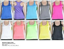 4-WAY STRETCH QUICK DRY WICK MOISTURE ATHLETIC YOGA  SPORTS FITTED TANK TOP