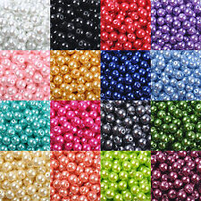Wholesale Glass Pearl Round Spacer Loose Beads Jewelry Making 4mm/6mm/8mm/10mm