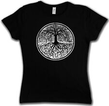 YGGDRASIL TREE LOGO II GIRLIE SHIRT - Arsenic Celtic Irminsul Of Thor Life Girl