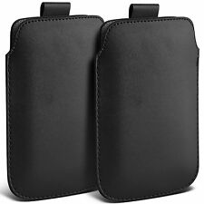Twin Pack PU Leather Pull Tab Case Cover Pouch For Vodafone Smart Speed 6