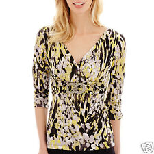 Alyx 3/4-Sleeve Crossover Top Yellow/Gray New Size S, M, XL Msrp $49.00 New