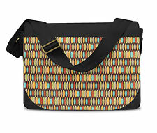 Surf Boards Retro Style Messenger Bag - Laptop School Shoulder Bag