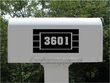 Mailbox Address Number Vinyl Decal Stickers Business Store House Address