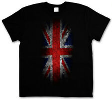 VINTAGE UK UNION JACK Flag T-SHIRT - England Great Britain FLAG Banner Royal