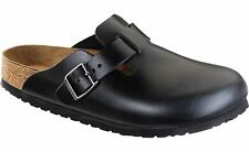 Birkenstock Unisex Boston Soft Footbed Black Amalfi Leather