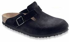 Birkenstock Unisex Boston Soft Footbed Black Suede