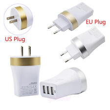 3.4A Triple USB 3 Port Wall Home Travel AC Charger Adapter For S6 S7 EU/US Plug