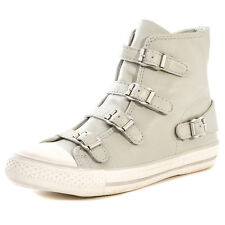 Ash Virgin Womens Leather Light Grey Trainers