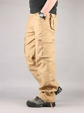 Men's Military Mid-rised Thick Cargo Pants Fatigue Trousers Casual utility NWT