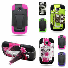 Hybrid Stand Tough Rugged Phone Case for Samsung Illusion Galaxy Proclaim Cover