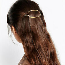 2pcs sets Women's Hair Jewelry Geometry Oval Hair Clip Hair Pin Hair Accessories