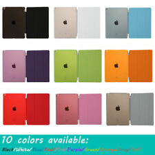 Smart Cover Back Hard Case Magnetic Leather Fits Apple iPad 2 3 4 5 6 Mini 1 2 3