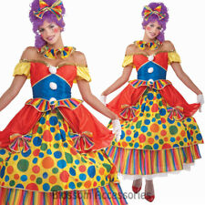 CL811 Belle Big Top Clown Circus Polka Dot Fancy Dress Carnival Costume Outfit