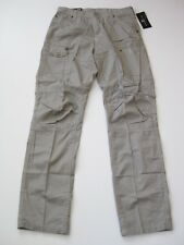 MARC ECKO Mens CARGO PANTS LIGHT GREY Pant Button Pockets Unlimited NWT NEW WORK