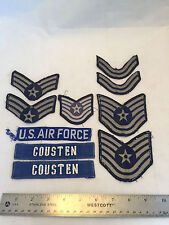 Lot of 10 US Air Force Military Patches Stars and Bars Stripes Tech USAF Patch