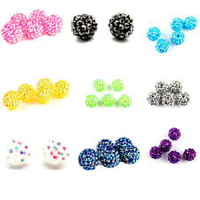 Top Quality 20 Pcs Muicolor Acrylic Rhinestone Pave Ball Spacer Beads 12mm