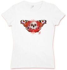 SKULL BUTTERFLY III HATE COUTURE GIRLIE SHIRT Rockabilly Tattoo Old school Indie