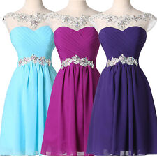 Amazing Beaded Short Chiffon Cocktail Gowns Evening Prom Party Graduation Dress