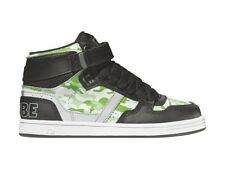 GLOBE Skate Shoes Lace Up Ankle Shoe Superfly Kids White Green Rubberband
