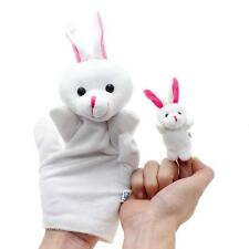 2PCS Kids Baby Learn Story Finger Puppet Plush Animals Hand Toys Talking Props