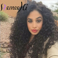 """100% Indian Remy Human Hair Sexy Curly 12""""-24"""" Lace Full Wig Front Wigs Hot"""
