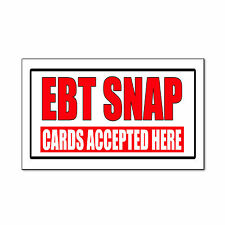 Ebt Snap Cards Accepted Here Business Corrugated Car Door Magnet Sign-QTY 2