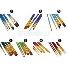 5pcs Artist Art Paint Brushes Set For Watercolour Oil Painting Face Paints Craft