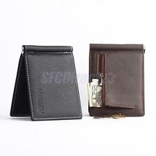Luxury Pu Leather Mens Bifold Credit ID Card Holder Coin Purse Note Wallet Slim