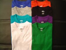 3 NEW SHAKA KIDS PLAIN V-NECK T-SHIRTS COLOR BLANK S-XL 3PC
