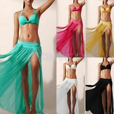 Retro Women Chiffon Boho New Long Maxi Dress Elastic Waist Skirt