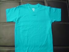 3 NEW SHAKA KIDS PLAIN V-NECK T-SHIRT TURQUOISE BLANK S-XL 3PC