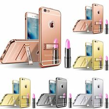 Luxury Aluminum Ultra-thin Mirror Metal Case Cover for iPhone 5/ 5s/ 6/ 6s Plus