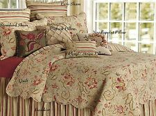King Quilt Jacobean French Country Sage Paisley Cotton